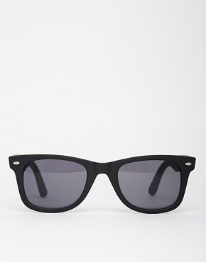 Image 2 ofASOS Matt Black Wayfarer Sunglasses
