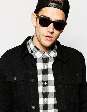 Image 3 ofASOS Matt Black Wayfarer Sunglasses