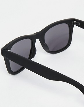Image 4 ofASOS Matt Black Wayfarer Sunglasses