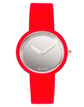 Image 1 ofO&#39;Clock Analogue Mirror Silicone Red Watch
