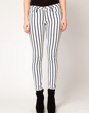 Image 1 ofMango Skinny Jean In Stripe
