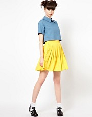 The WhitePepper Pleated Mini Skirt