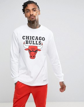 Mitchell & Ness NBA Chicago Bulls Long Sleeve Top