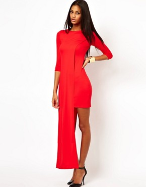 Image 4 ofASOS Maxi Dress with High Low Side