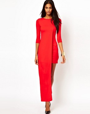 Image 1 ofASOS Maxi Dress with High Low Side