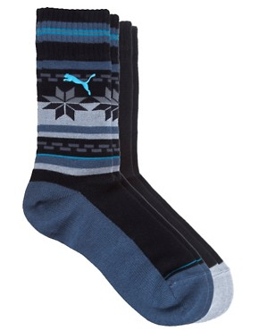 Image 1 ofPuma Outdoor Cat 2 Pack Socks