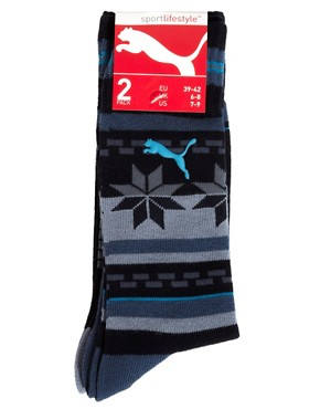 Image 3 ofPuma Outdoor Cat 2 Pack Socks