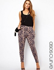ASOS CURVE Peg Trouser In Abstract Print