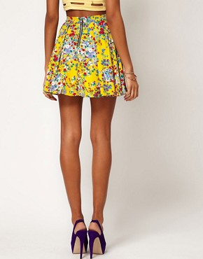 Image 2 ofMotel Ditsy Floral Skater Skirt
