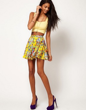 Image 1 ofMotel Ditsy Floral Skater Skirt