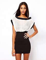 Quontum Dress With Chiffon Top