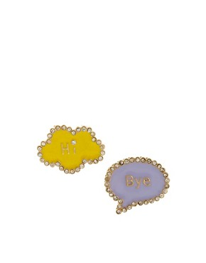 Image 1 of ASOS Hi Bye Earrings