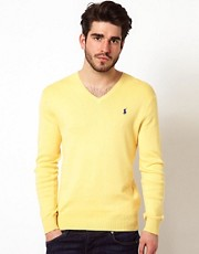 Polo Ralph Lauren V Jumper with Polo Player