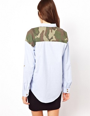 Image 2 ofOnly Shirt With Camo Pocket