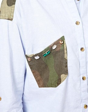 Image 3 ofOnly Shirt With Camo Pocket