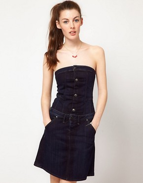 Image 1 ofG-Star Button Down Denim Dress