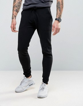 ASOS Super Skinny Joggers In Black