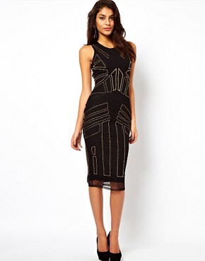 Image 1 ofASOS Midi Dress With Beading And Applique