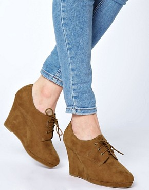 Image 3 ofNew Look Weapon Wedge Tan Shoe Boots