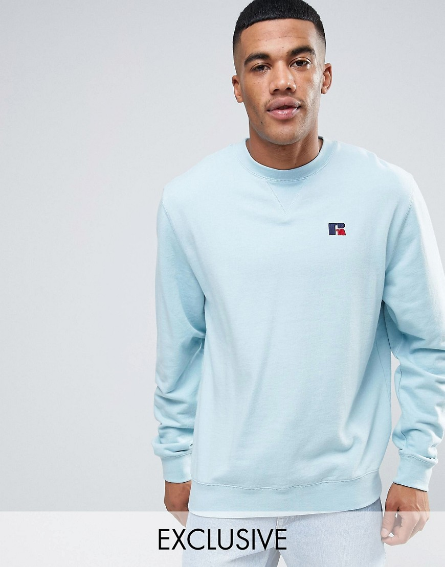 Russell Athletic Sweatshirt With Embroidered Logo - Blue