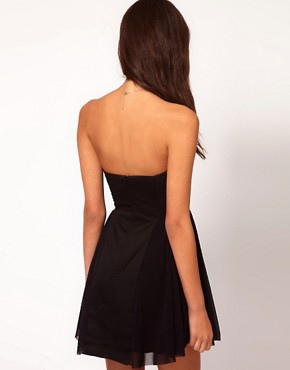 Image 2 ofASOS Strapless Skater Dress with Sweetheart neckline