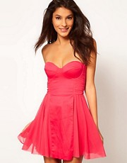 ASOS Strapless Skater Dress with Sweetheart neckline