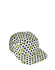 ASOS 5 Panel Cap With Banana Polka Dot Print