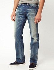 Diesel - Larkee 0806P - Jeans regular fit a lavaggio chiaro