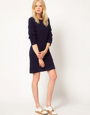 Image 4 ofBoutique by Jaeger Knitted Cable Dress