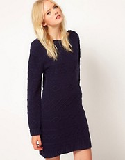Boutique by Jaeger Knitted Cable Dress