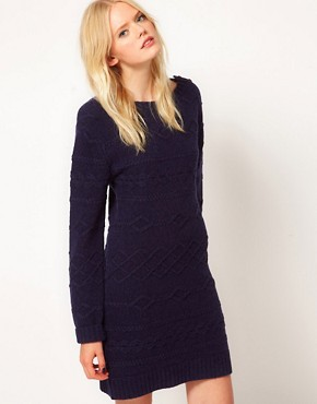 Image 1 ofBoutique by Jaeger Knitted Cable Dress