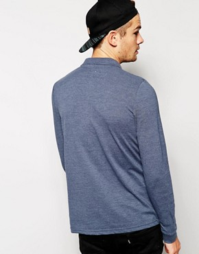 Image 2 ofASOS Pique Polo With Long Sleeves