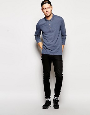 Image 4 ofASOS Pique Polo With Long Sleeves