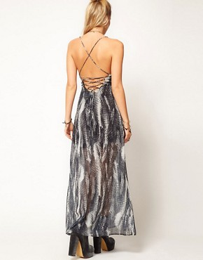 Image 2 ofASOS PETITE Exclusive Maxi Dress With Split Skirt