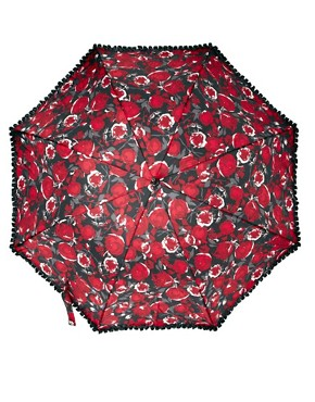 Image 3 ofLulu Guinness Rose Print Eliza-2 Umbrella
