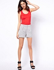ASOS Shorts in Grey Stripe