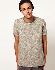 ASOS T-Shirt With All Over Camo Animal Print