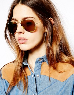 Ray Ban Gold Mirrored Sunglasses