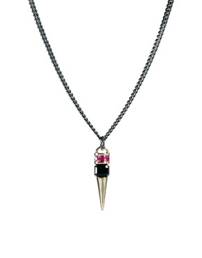 Image 1 ofASOS Jewel Spike Short Pendant Necklace