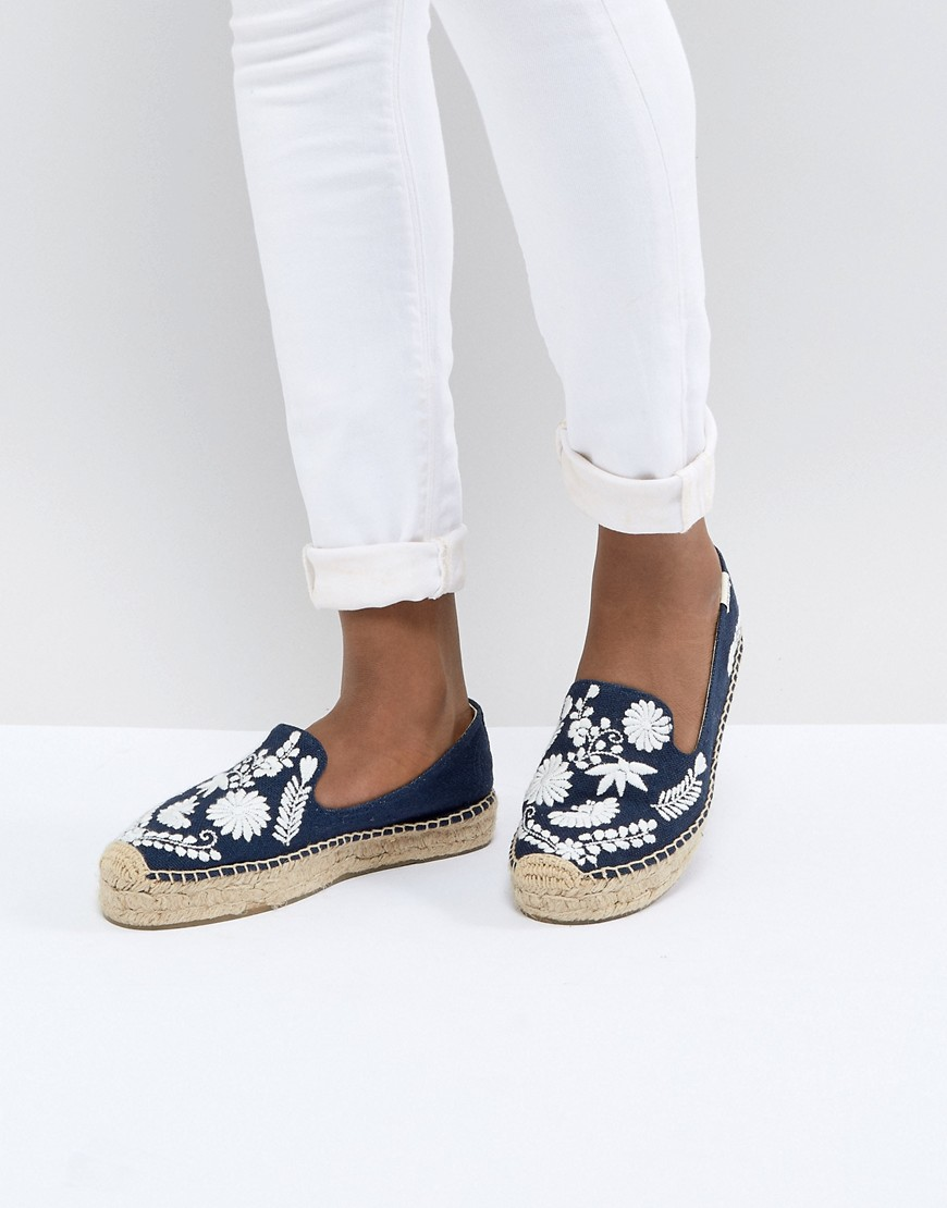 MIDNIGHT BLUE IBIZA EMBROIDERED ESPADRILLES - NAVY