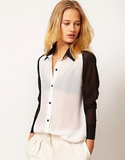 71 Stanton Masculine Button Down Shirt With Contrast Sleeves