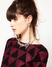 Ear cuff con gargantilla unida de ASOS