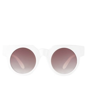 Image 2 ofASOS Flat Top Round Sunglasses