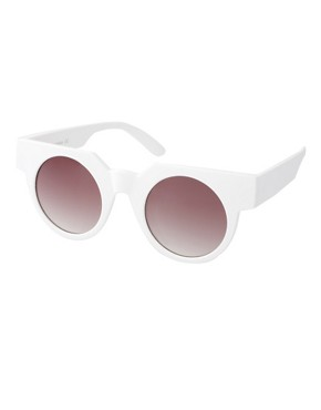 Image 1 ofASOS Flat Top Round Sunglasses