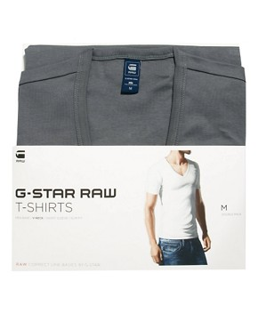 Image 3 ofG-Star Premium V Neck Two Pack T-Shirt