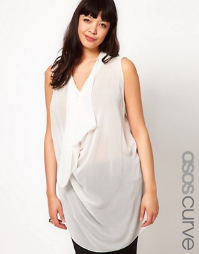 Image 1 ofASOS CURVE Exclusive Top With Cowl Neck