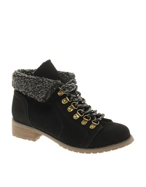 Image 1 ofASOS AIM Hiker Ankle Boots