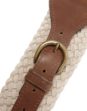 Image 3 of Pieces Hakan Suede Braided Waist Belt