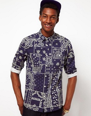 Image 1 ofASOS Shirt With Bandana Print