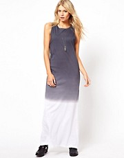 ASOS Maxi Dress With Dip Dye Hem